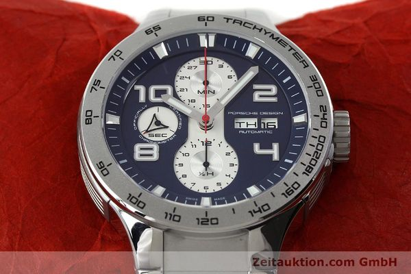 Used luxury watch Porsche Design Flat Six chronograph steel automatic Kal. ETA 7750 Ref. 6340.41/4  | 141943 16
