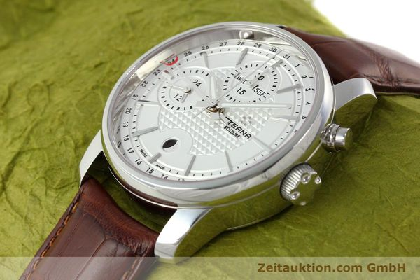 Used luxury watch Eterna Soleure chronograph steel automatic Ref. 8340.41  | 141944 01