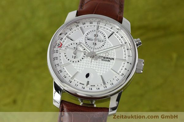 Used luxury watch Eterna Soleure chronograph steel automatic Ref. 8340.41  | 141944 04