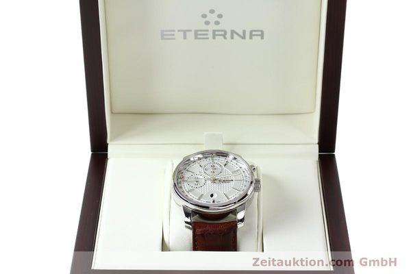 Used luxury watch Eterna Soleure chronograph steel automatic Ref. 8340.41  | 141944 07