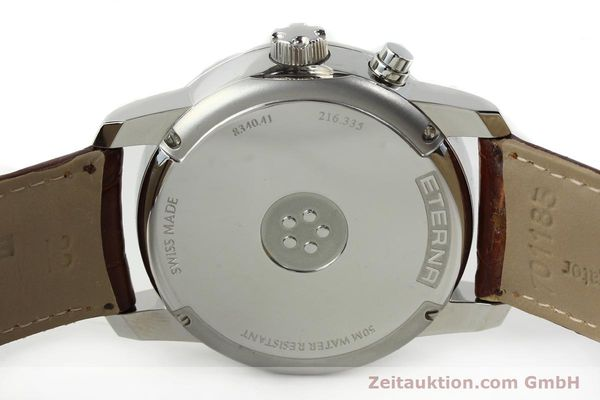 Used luxury watch Eterna Soleure chronograph steel automatic Ref. 8340.41  | 141944 09