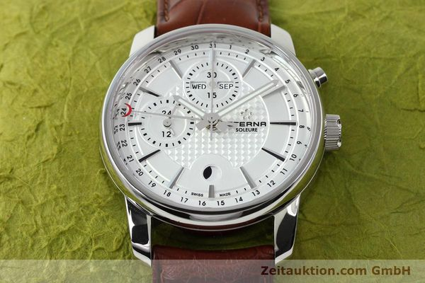 Used luxury watch Eterna Soleure chronograph steel automatic Ref. 8340.41  | 141944 17