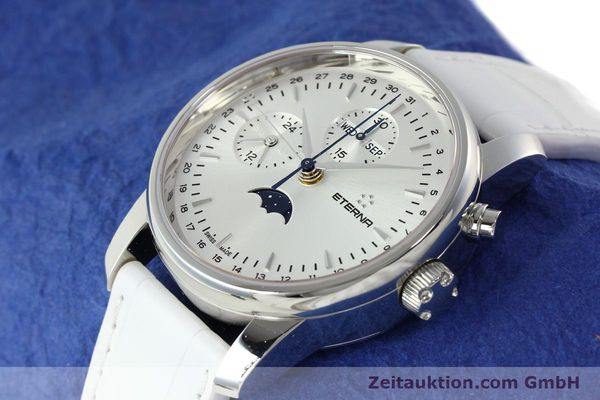 Used luxury watch Eterna Soleure chronograph steel automatic Ref. 8340.41  | 141945 01