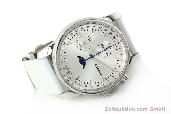 Used luxury watch Eterna Soleure chronograph steel automatic Ref. 8340.41  | 141945 03
