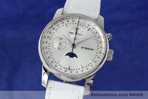 Used luxury watch Eterna Soleure chronograph steel automatic Ref. 8340.41  | 141945 04