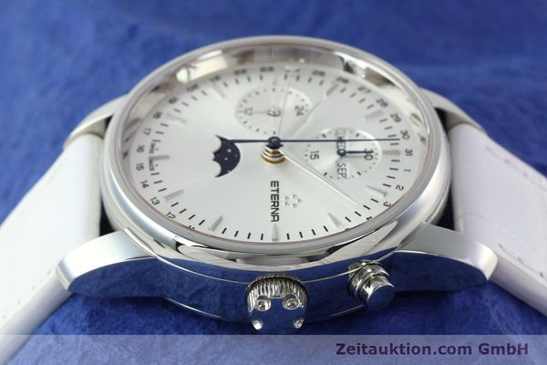 Used luxury watch Eterna Soleure chronograph steel automatic Ref. 8340.41  | 141945 05