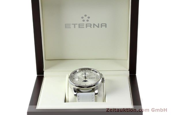 Used luxury watch Eterna Soleure chronograph steel automatic Ref. 8340.41  | 141945 07