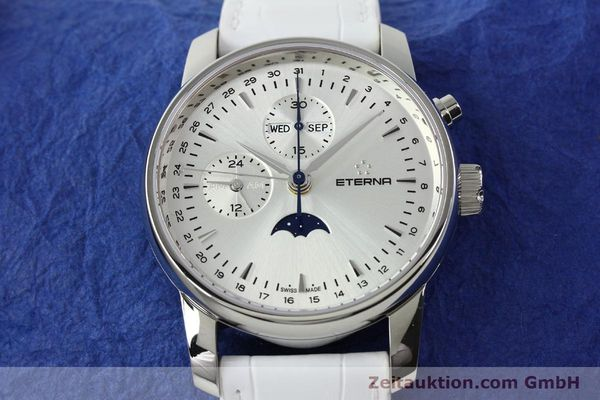 Used luxury watch Eterna Soleure chronograph steel automatic Ref. 8340.41  | 141945 17