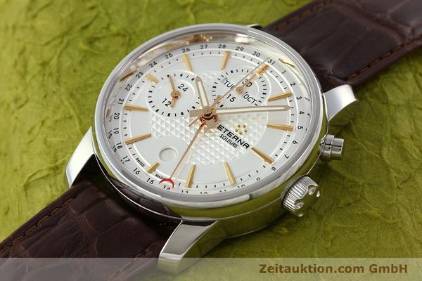 Used luxury watch Eterna Soleure chronograph steel automatic Ref. 8340.41  | 141946 01