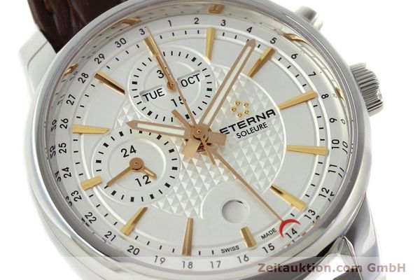 Used luxury watch Eterna Soleure chronograph steel automatic Ref. 8340.41  | 141946 02