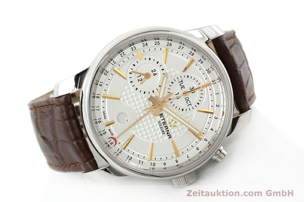 Used luxury watch Eterna Soleure chronograph steel automatic Ref. 8340.41  | 141946 03