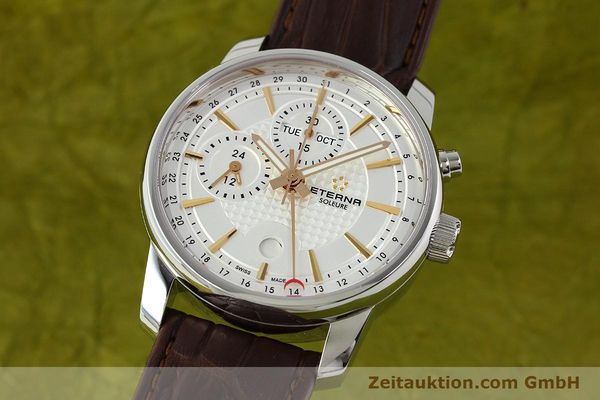 Used luxury watch Eterna Soleure chronograph steel automatic Ref. 8340.41  | 141946 04