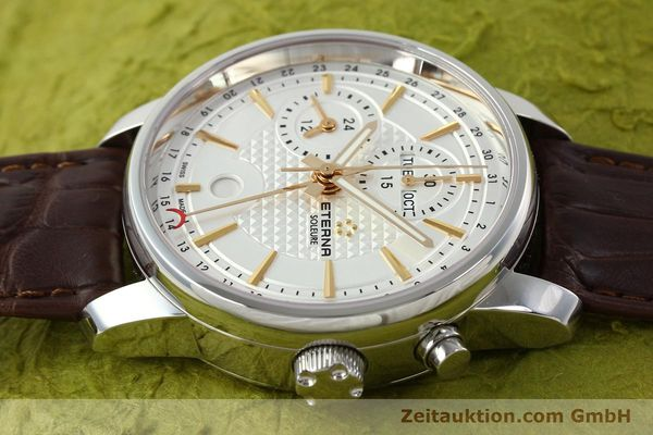 Used luxury watch Eterna Soleure chronograph steel automatic Ref. 8340.41  | 141946 05