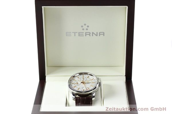 Used luxury watch Eterna Soleure chronograph steel automatic Ref. 8340.41  | 141946 07