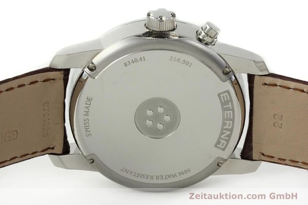 Used luxury watch Eterna Soleure chronograph steel automatic Ref. 8340.41  | 141946 09