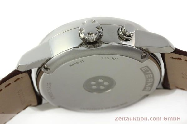 Used luxury watch Eterna Soleure chronograph steel automatic Ref. 8340.41  | 141946 11