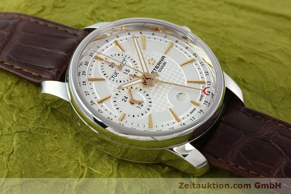 Used luxury watch Eterna Soleure chronograph steel automatic Ref. 8340.41  | 141946 16