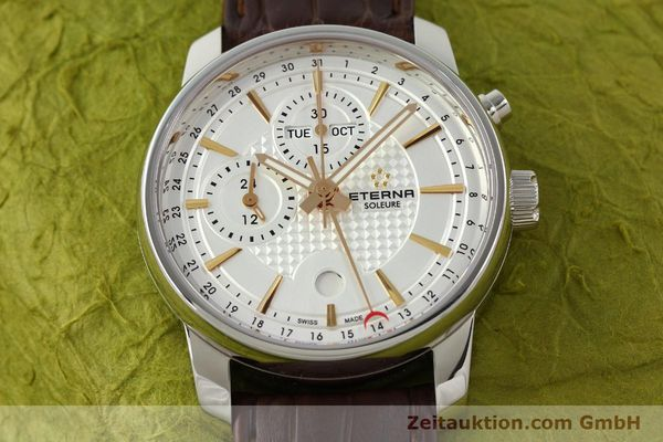 Used luxury watch Eterna Soleure chronograph steel automatic Ref. 8340.41  | 141946 17