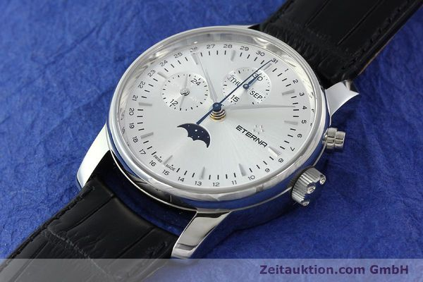 Used luxury watch Eterna Soleure chronograph steel automatic Ref. 8340.41  | 141948 01
