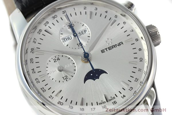 Used luxury watch Eterna Soleure chronograph steel automatic Ref. 8340.41  | 141948 02