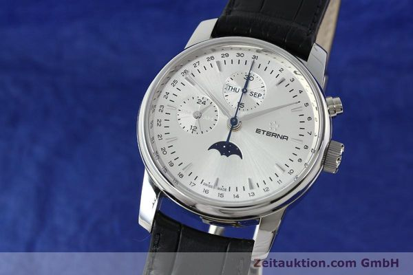 Used luxury watch Eterna Soleure chronograph steel automatic Ref. 8340.41  | 141948 04