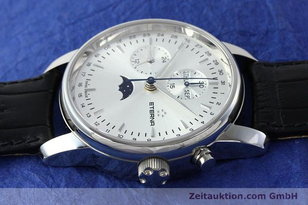 Used luxury watch Eterna Soleure chronograph steel automatic Ref. 8340.41  | 141948 05