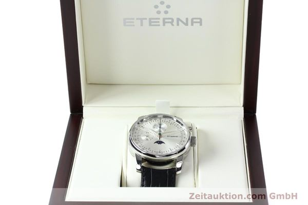 Used luxury watch Eterna Soleure chronograph steel automatic Ref. 8340.41  | 141948 07