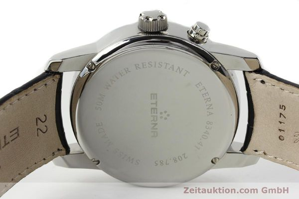Used luxury watch Eterna Soleure chronograph steel automatic Ref. 8340.41  | 141948 09