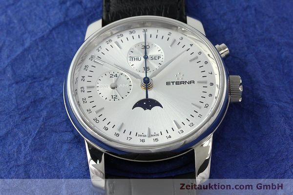 Used luxury watch Eterna Soleure chronograph steel automatic Ref. 8340.41  | 141948 16