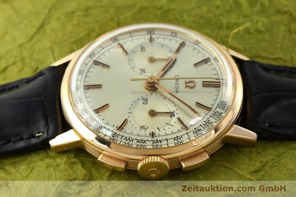 Used luxury watch Omega * chronograph 18 ct gold manual winding Kal. 320 Ref. 10100964  | 141951 05