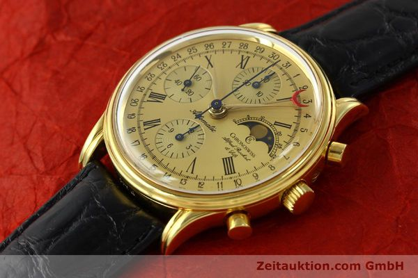 Used luxury watch Chronoswiss A. Rochat chronograph gold-plated automatic Kal. VAL 7750  | 141963 01