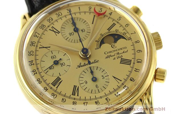Used luxury watch Chronoswiss A. Rochat chronograph gold-plated automatic Kal. VAL 7750  | 141963 02