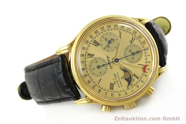 Used luxury watch Chronoswiss A. Rochat chronograph gold-plated automatic Kal. VAL 7750  | 141963 03