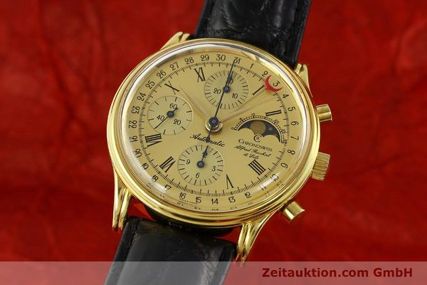 Used luxury watch Chronoswiss A. Rochat chronograph gold-plated automatic Kal. VAL 7750  | 141963 04
