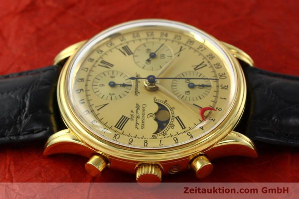 Used luxury watch Chronoswiss A. Rochat chronograph gold-plated automatic Kal. VAL 7750  | 141963 05