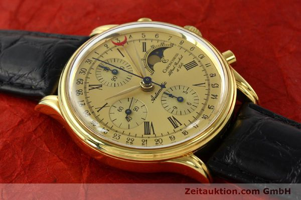 Used luxury watch Chronoswiss A. Rochat chronograph gold-plated automatic Kal. VAL 7750  | 141963 13