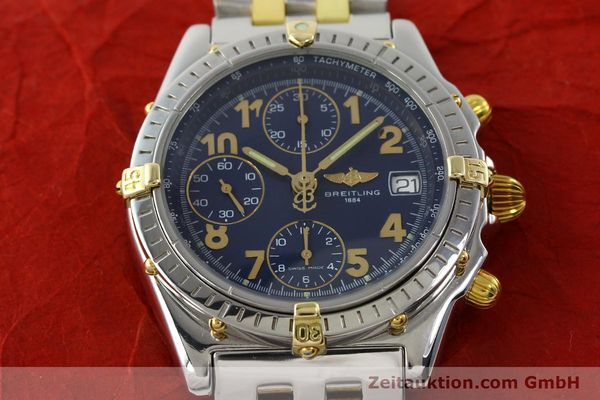 Used luxury watch Breitling Chronomat chronograph steel / gold automatic Kal. B13 ETA 7750 Ref. B13050.1  | 141964 15