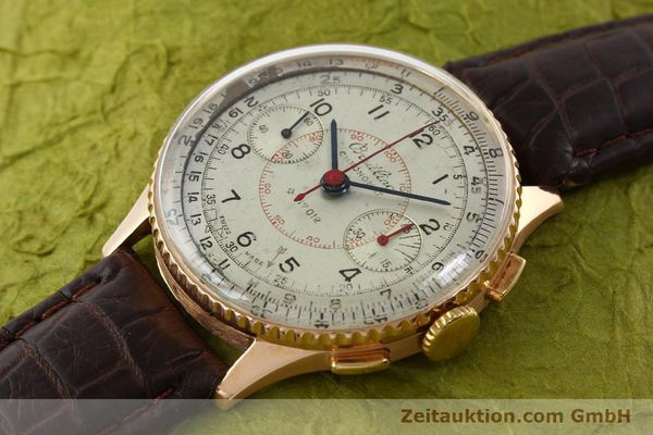 Used luxury watch Breitling Chronomat chronograph 18 ct gold manual winding Ref. 769  | 141965 01