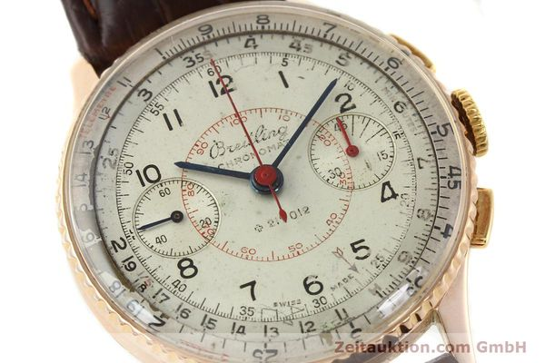 Used luxury watch Breitling Chronomat chronograph 18 ct gold manual winding Ref. 769  | 141965 02