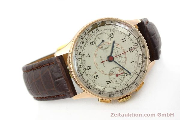 Used luxury watch Breitling Chronomat chronograph 18 ct gold manual winding Ref. 769  | 141965 03