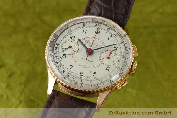 Used luxury watch Breitling Chronomat chronograph 18 ct gold manual winding Ref. 769  | 141965 04