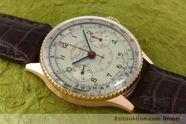 Used luxury watch Breitling Chronomat chronograph 18 ct gold manual winding Ref. 769  | 141965 13