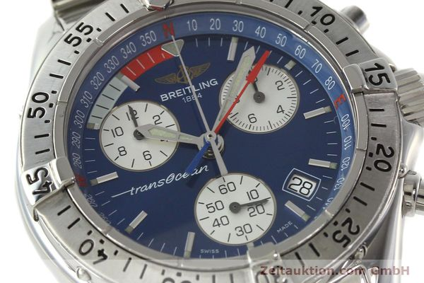 Used luxury watch Breitling Transocean chronograph steel quartz Kal. B53 ETA 251262 Ref. A53340  | 141966 02