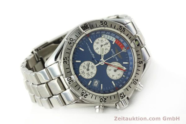 Used luxury watch Breitling Transocean chronograph steel quartz Kal. B53 ETA 251262 Ref. A53340  | 141966 03