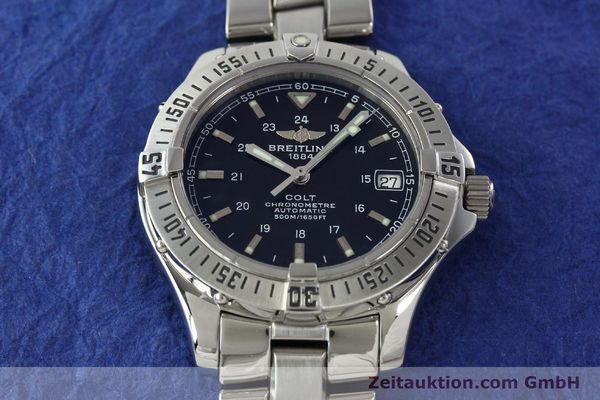 Used luxury watch Breitling Colt steel automatic Kal. B17 ETA 2824-2 Ref. A17350  | 141971 15