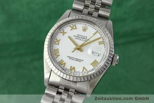 Used luxury watch Rolex Datejust steel automatic Kal. 3035 Ref. 16030  | 141976 04