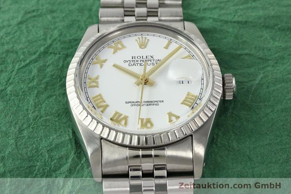 Used luxury watch Rolex Datejust steel automatic Kal. 3035 Ref. 16030  | 141976 15