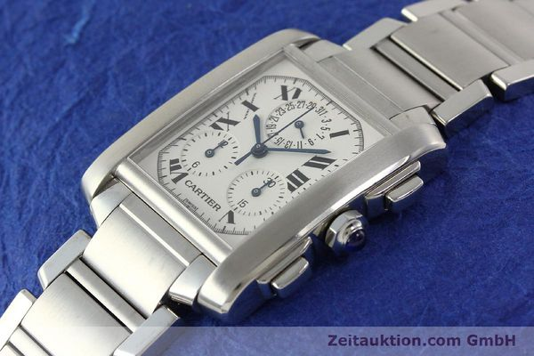 Used luxury watch Cartier Tank Francaise chronograph steel quartz Kal. 212P VINTAGE  | 141979 01