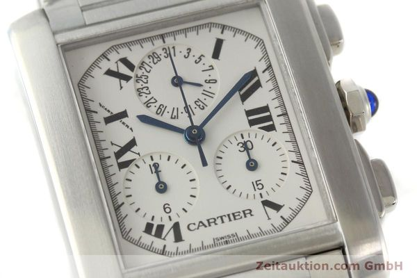 Used luxury watch Cartier Tank Francaise chronograph steel quartz Kal. 212P VINTAGE  | 141979 02