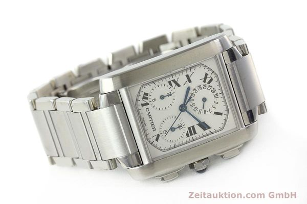 Used luxury watch Cartier Tank Francaise chronograph steel quartz Kal. 212P VINTAGE  | 141979 03